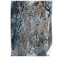 Blue and Raw Sienna Mineral Poster
