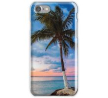 Cancun Palm at Sunset iPhone Case/Skin