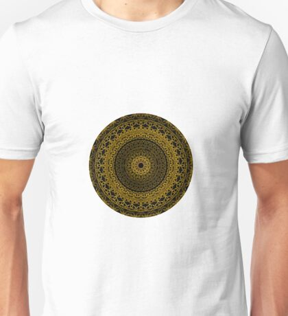 Black and Gold Mandala Unisex T-Shirt