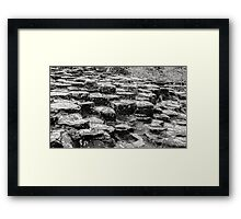 Rocks of Giants Causeway -Northern Ireland #2 Framed Print