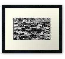 Rocks of Giants Causeway -Northern Ireland #2 Framed Print