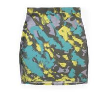 Turquoise & Yellow Mini Skirt