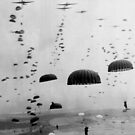 Allied Airborne Troops Parachuting - WWII by warishellstore