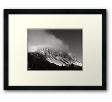 Cannon Cliffs in the Clouds Framed Print