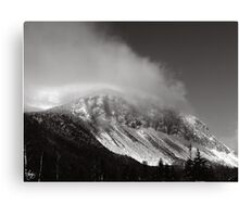 Cannon Cliffs in the Clouds Canvas Print
