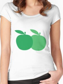 2 apples Women's Fitted Scoop T-Shirt