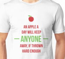 An apple a day will keep anyone away Unisex T-Shirt
