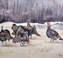 Turkeys in the Straw by Chris Kfoury