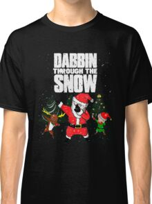 Christmas Dabbin Through The Snow Classic T-Shirt
