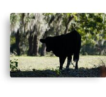 Cow Silhouette Canvas Print