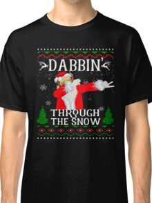 Christmas Dabbin Through The Snow Classic T-Shirt