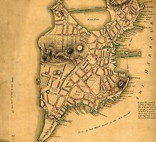 Vintage Map of Boston 1775 by AndrewFare