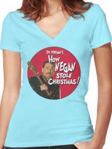 How Negan Stole Christmas! Women's Fitted V-Neck T-Shirt