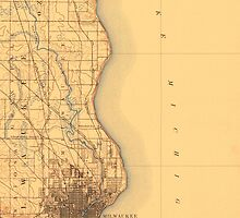 Vintage Milwaukee Map by AndrewFare