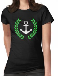 Pablo's  with Anchor and Wreath Womens Fitted T-Shirt