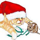 Kitty Claus  by redqueenself