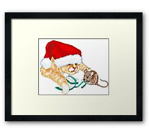 Kitty Claus  Framed Print