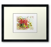 Afterglow - Crab Apple Blossoms In Spring Framed Print