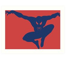 Spidey blue Art Print