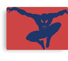 Spidey blue Canvas Print