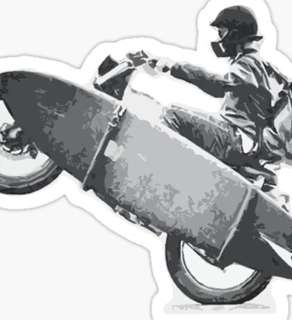 Motorcycle Surfer Stoked Freedom Sticker