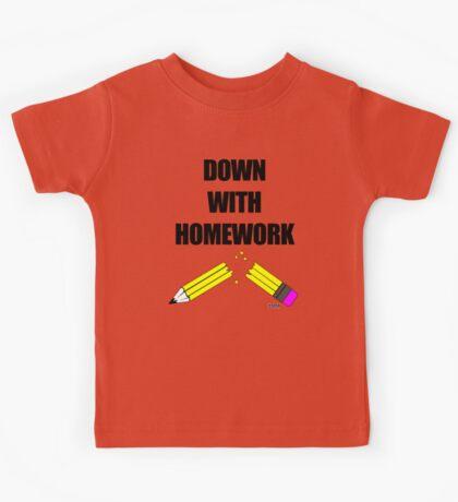 Down With Homework Kids Tee