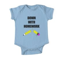 Down With Homework One Piece - Short Sleeve