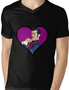 i love you robbie rotten face  Mens V-Neck T-Shirt
