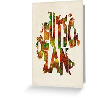 Germany Typographic Watercolor Map Greeting Card