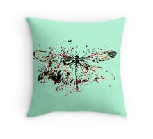 Dragonfly - Abstract Ink Throw Pillow