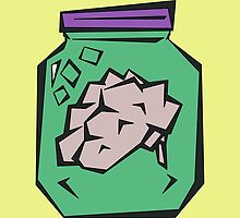 Brain in a Jar by paulaxd