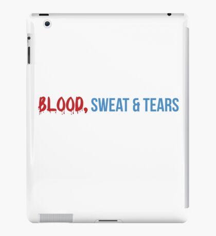 Blood, swear & tears iPad Case/Skin