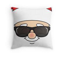 Santa wearing sunglasses Throw Pillow