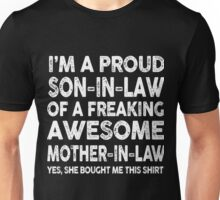 Proud Son In Law Of Awesome Mother In Law T-Shirt Unisex T-Shirt