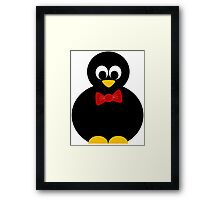 cute little penguin with bow tie Framed Print