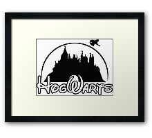 hogwarts potter Framed Print