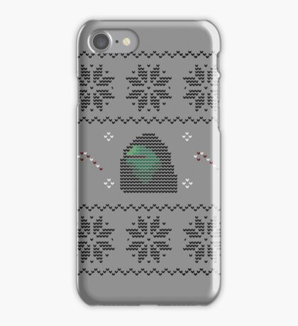Hooded Kermit Christmas Sweater iPhone Case/Skin
