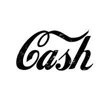 Cash - black Photographic Print