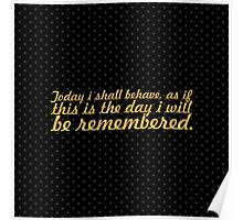 "Today i shall... ""Dr. Seuss"" Inspirational Quote (Square) Poster"