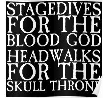 Stagedives for Khorne Poster
