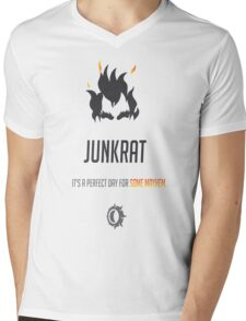 OVERWATCH JUNKRAT Mens V-Neck T-Shirt