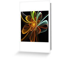 Glowing Bow Flower Greeting Card