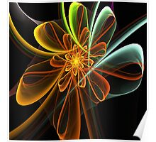 Glowing Bow Flower Poster