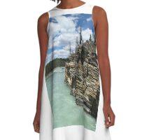 Athabasca River A-Line Dress