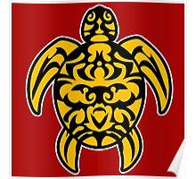 maori turtle tortue tattoo tribal Poster