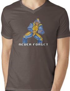 Bad Box Art Mega Man Mens V-Neck T-Shirt