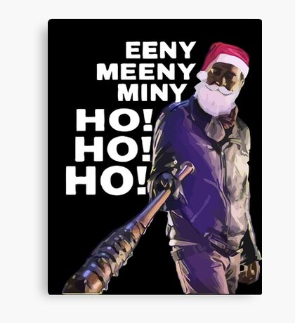 Merry Christmas - Negan and Luicile Canvas Print