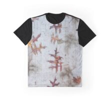 Leaves on Sidewalk Graphic T-Shirt