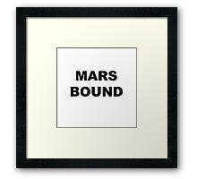 Mars Bound Framed Print