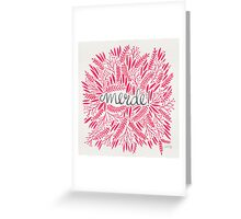 Pardon My French – Pink Greeting Card